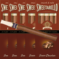 25 Sweetarillo Sweet Chocolate. Flavoured Tip Cigars
