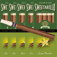 25 Sweetarillo Sweet Vanilla. Flavoured Tip Cigars.